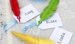 Lady Tremaine's Feather Place Cards