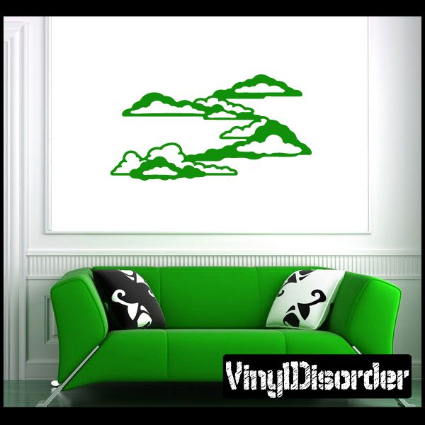 Cloud Wall Decal - Vinyl Decal - Car Decal - NS032