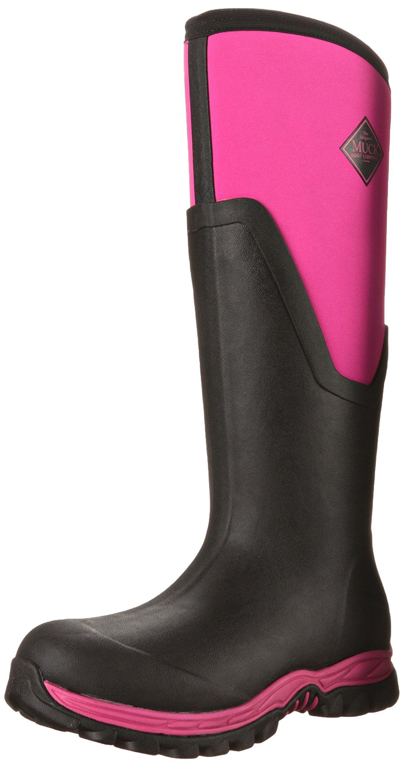 Muck Boots Damen Arctic Sport Ii Tall Gummistiefel, Pink (Black/Pink), 37 EU