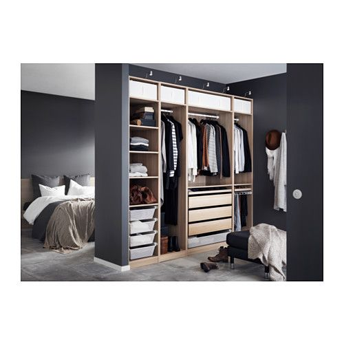 pax garderobeskap hvitbeiset eikem nster pax wardrobe. Black Bedroom Furniture Sets. Home Design Ideas