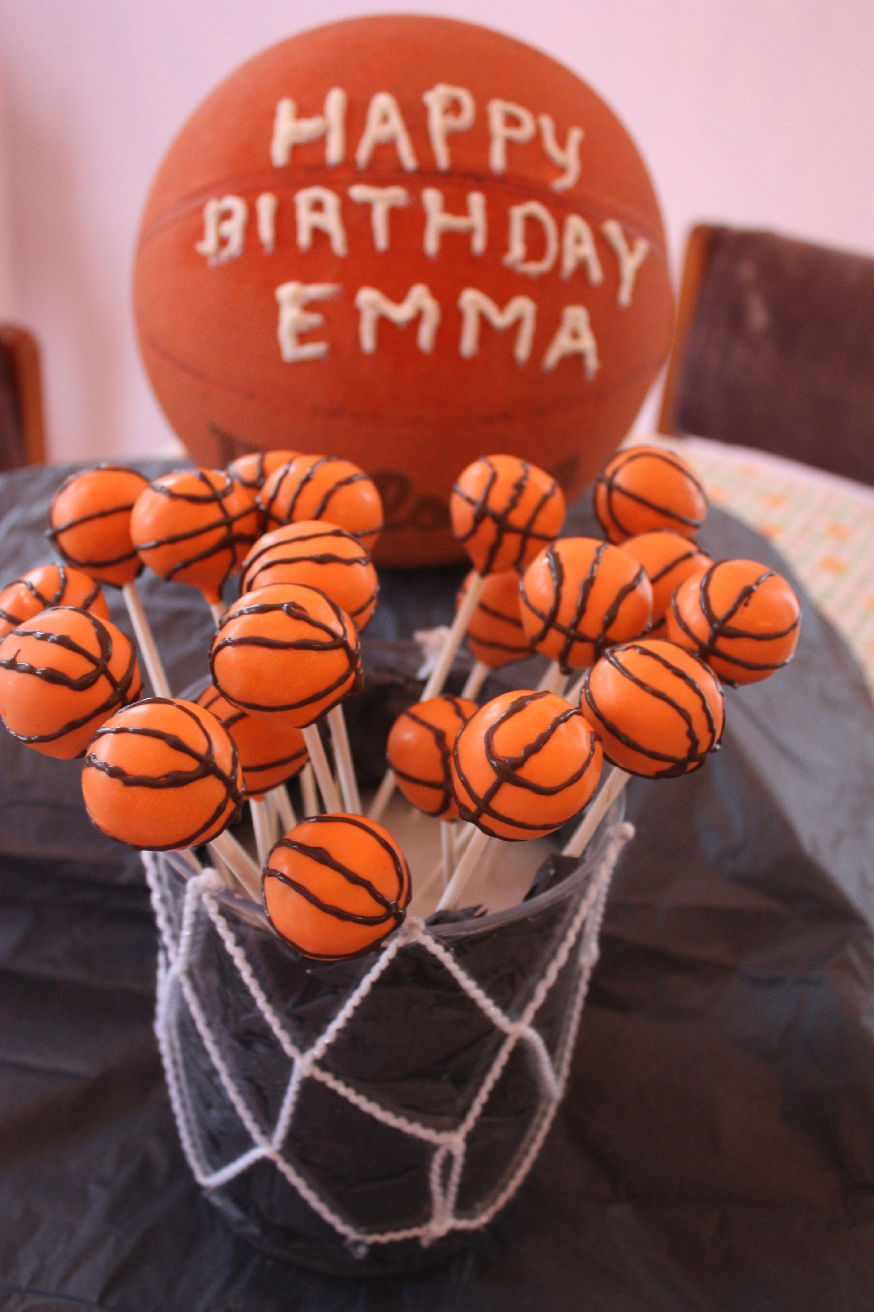 Basketball cake pops basketball cake
