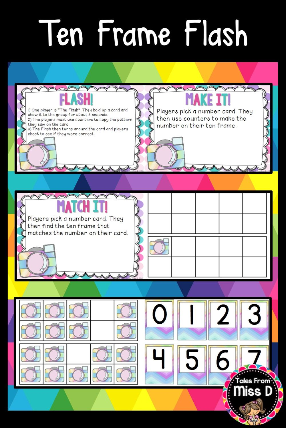 Tens Frame Game | Tales From Miss D Resources | Pinterest | Ten ...