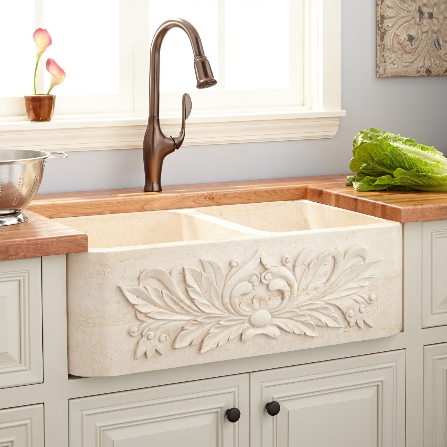 36 ivy polished marble 6040 offset doublebowl farmhouse