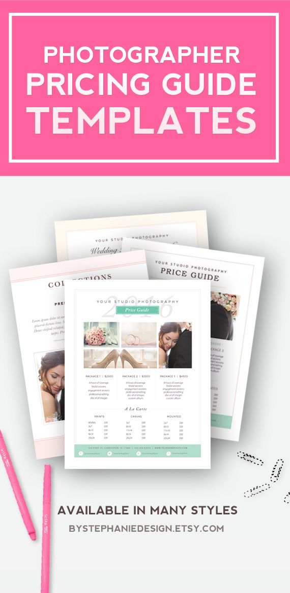 Wedding Photographer Pricing Guide Templates Market your - guide templates