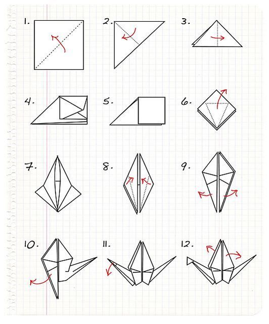 Origami Crane Directions Origami Crane Step By Step Instructions