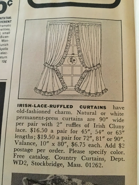 Irish Lace Ruffled Curtains Ladies Day Time Capsule Women S Day Magazine