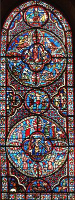 The New Allience- Bourges Cathedral's Ambulatory Glass - France,  Summary Index