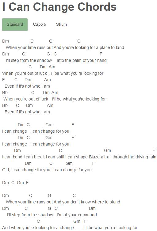 I Can Change Chords Brandon Flowers | Brandon Flowers | Pinterest ...