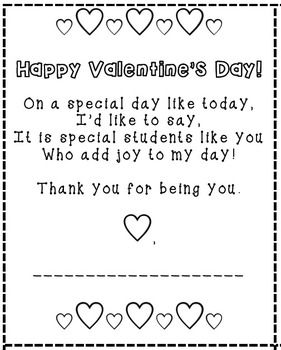 Valentines for Students from Teacher | Kindergarten valentines, Student  valentines, Valentines poems