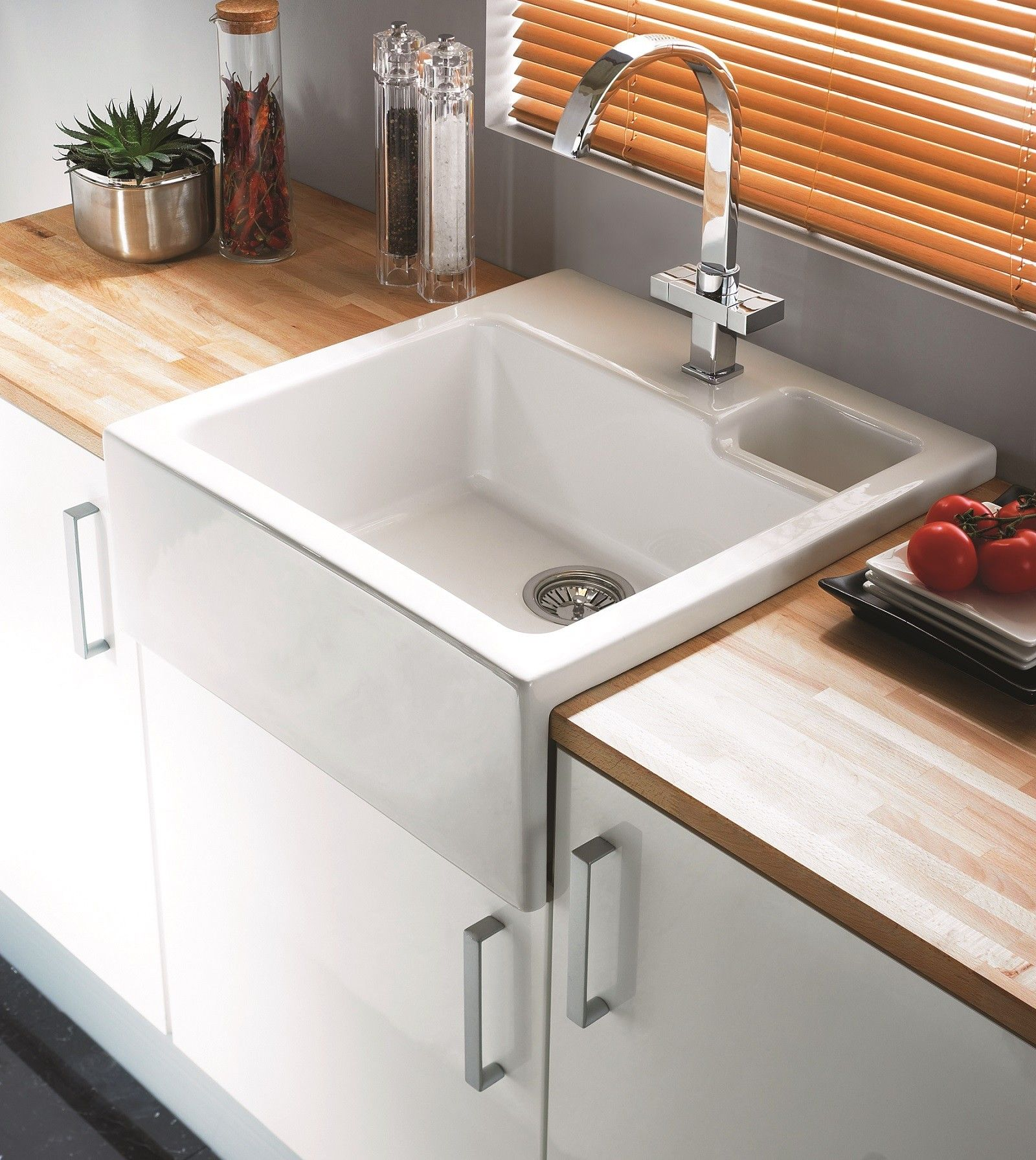 Clearwater Berlioz 60 Belfast Sink Apron Front Waste East Coast Kitchens Bedrooms Ltd Küchenumbau Umbau Kleiner Küche Küchendesign