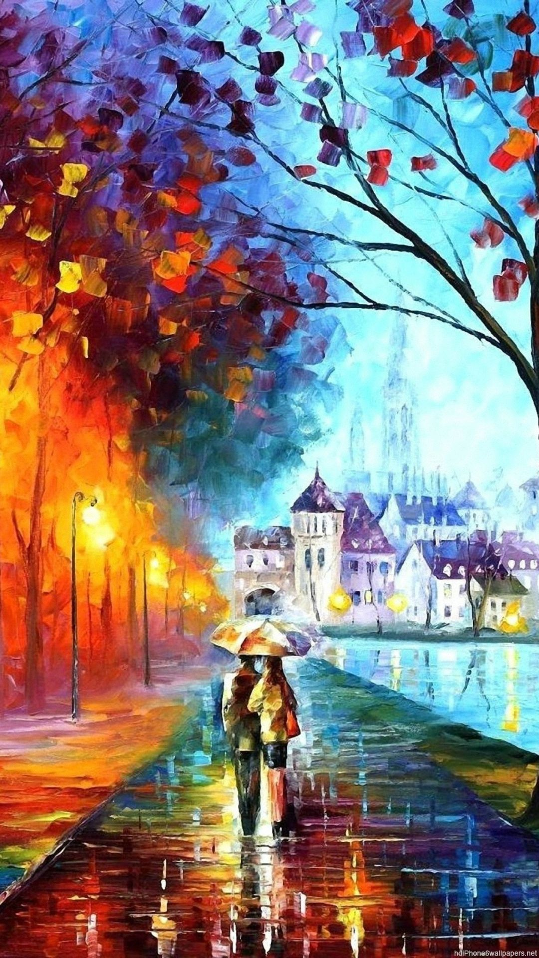 Autumn Drawing Iphone 6 Wallpapers Hd And 1080p 6 Plus Wallpapers Pop Art Wallpaper Fall Wallpaper Scenery Wallpaper