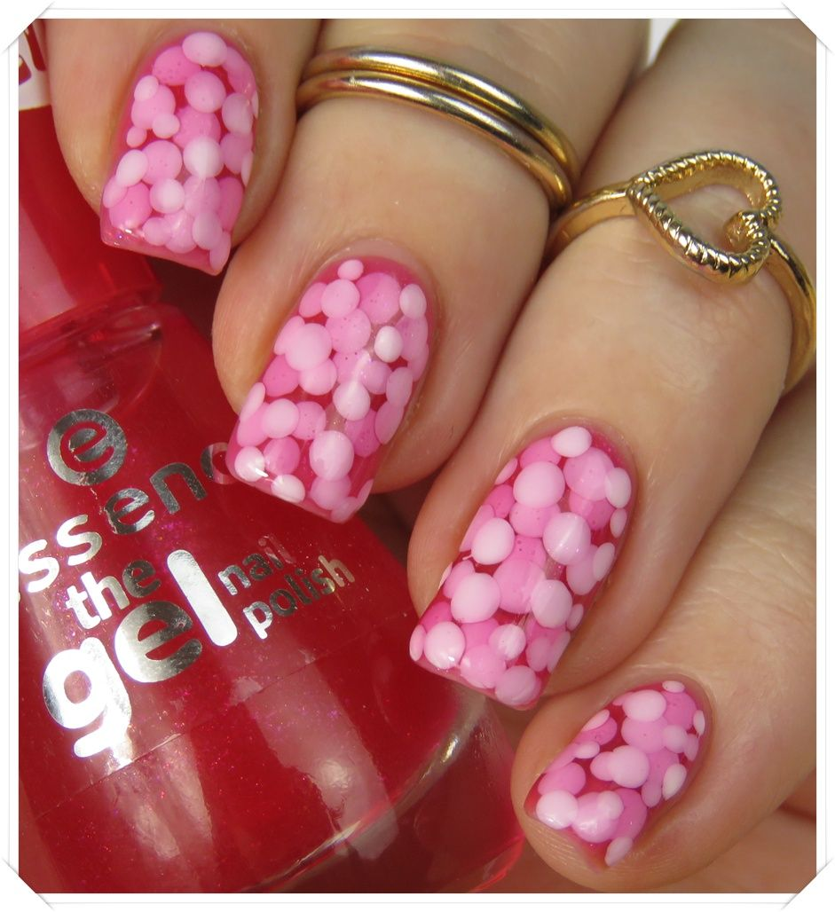 Essence the gel nail polish 02 bubble gum the jelly pond for Nagellack designs