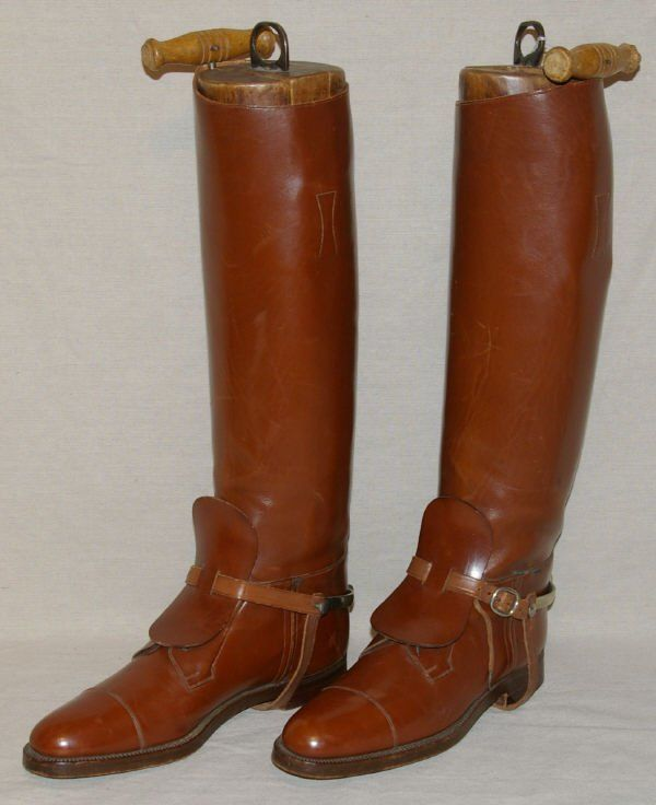 1417: Vintage English Riding Boots & Spurs Manfield | POLO ...