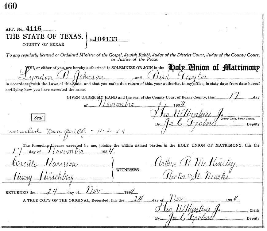 Marriage License Requirements- State of Texas