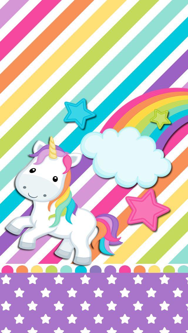 Rainbow unicorn wallpaper | Cute wallpapers | Pinterest ...