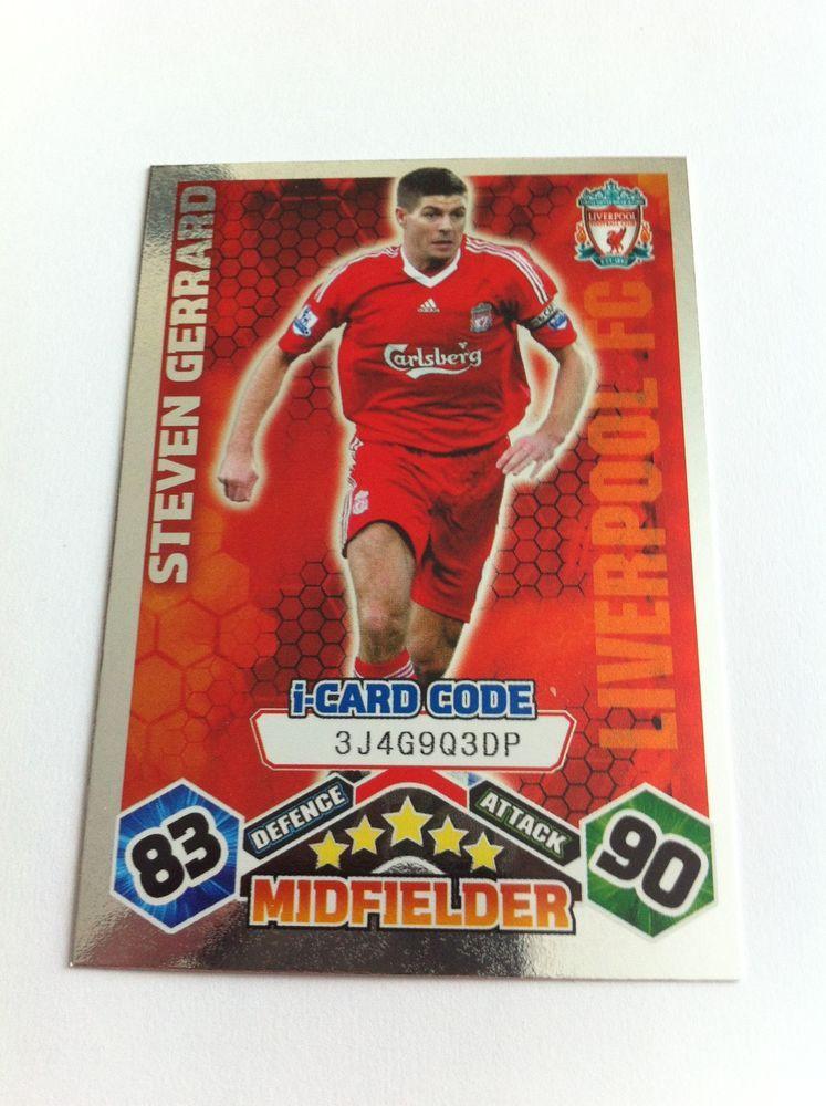 Match Attax 2009/10 Steven Gerrard Liverpool Shiny I
