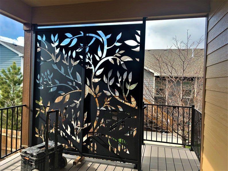 Custom Made Size Outdoor Privacy Screen Outdoor Metal Wall Art Panel Gazebo Custom Meta In 2020 Decorative Screens Outdoor Privacy Screen Outdoor Outdoor Privacy