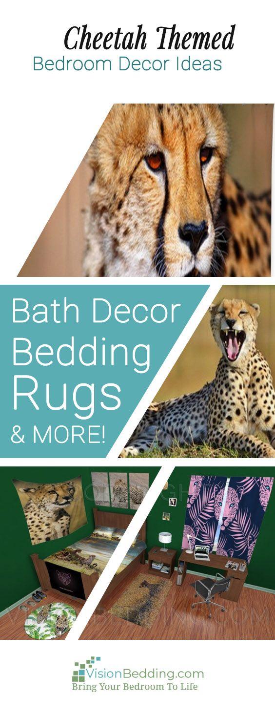 Cheetah Runn Duvet Cover | Cheetah bedroom decor, Cheetah ...