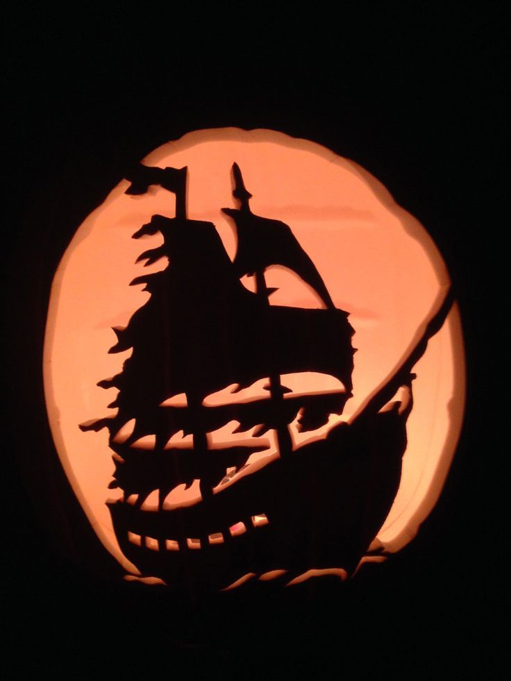 Pirate ship silhouette google search tattoos for Pumpkin carving silhouettes