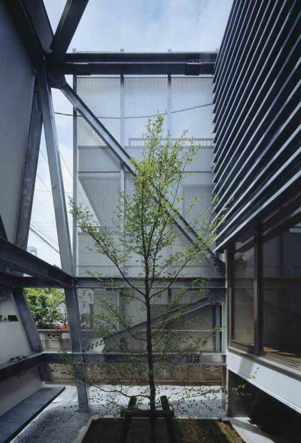 Superior Garden Of Modern House With Private Open Area Using Facade Gallery