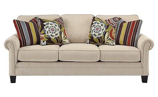 Ashley Furniture Ballari Linen Sofa Italsofa Recliner - Sofa- Obviously Not The Pillows, But This ...