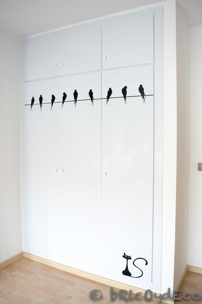 Forrando las puertas de un armario con vinilo autoadhesivo - Vinilo para armarios ...