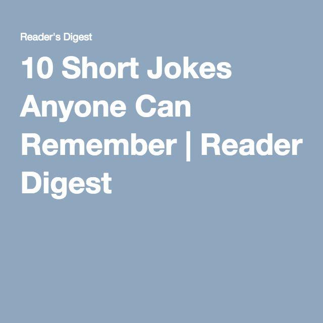 101 Short Jokes Anyone Can Remember Short Jokes Short Jokes Funny Best Short Jokes