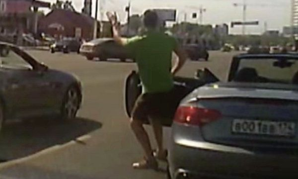Russian Guy Busts a Move at the Stop Light (Video) - Sometimes you just gotta shake that thing