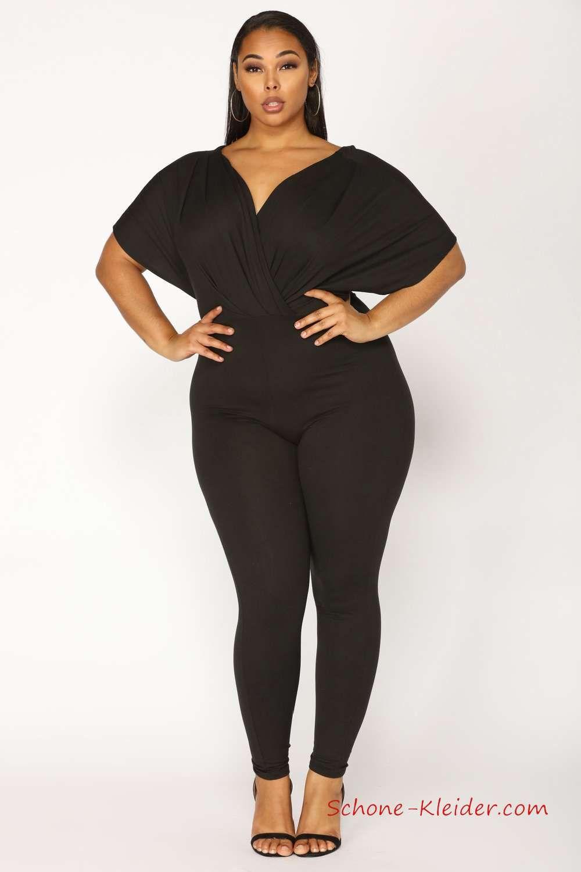 Mode für Mollige Damen Overall Festlich Der Perfekte Jumpsuit