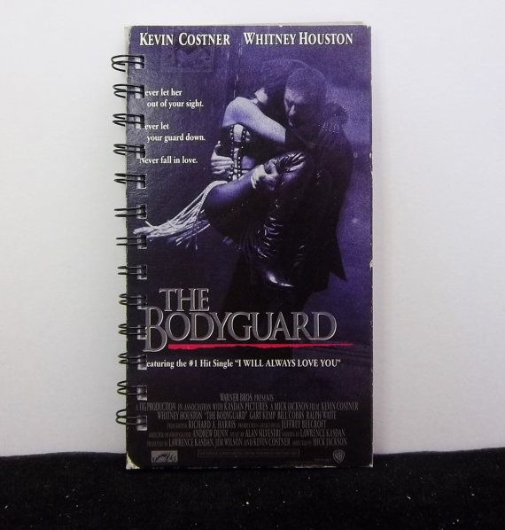 Recycled Journal From The Bodyguard VHS Box by AWRecycledJournals, $8.00
