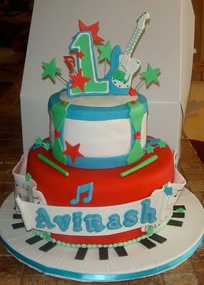 Musical Babys 1st Birthday cake edible sheet music is the actual