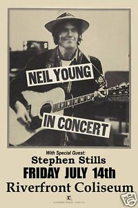 1970s Concert Posters | 1970s-Rock-Neil-Young-at-Riverfront-Coliseum-Concert-Poster-1978