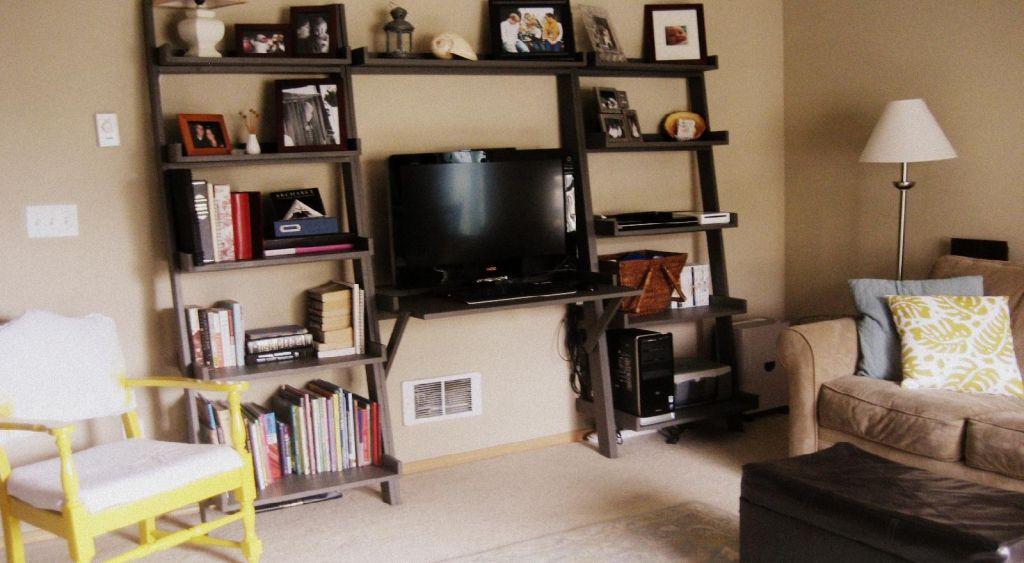 Schiefen Wand Schreibtisch mit Regal home office Möbel set - designer mobel bucherregal