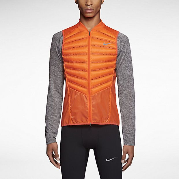 Nike Running Vest Mens Large Aeroloft 800 Fill Down Breathable ...