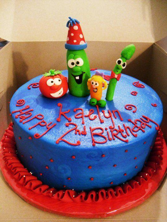 Cool Veggietales Cake Idea Veggie Tales Birthday Party Veggie Tales Personalised Birthday Cards Veneteletsinfo