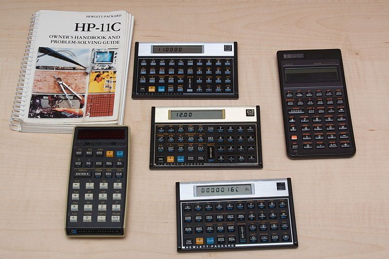File Hp Calculators Jpg Wikimedia Commons Old Calculator Old Technology Computer History