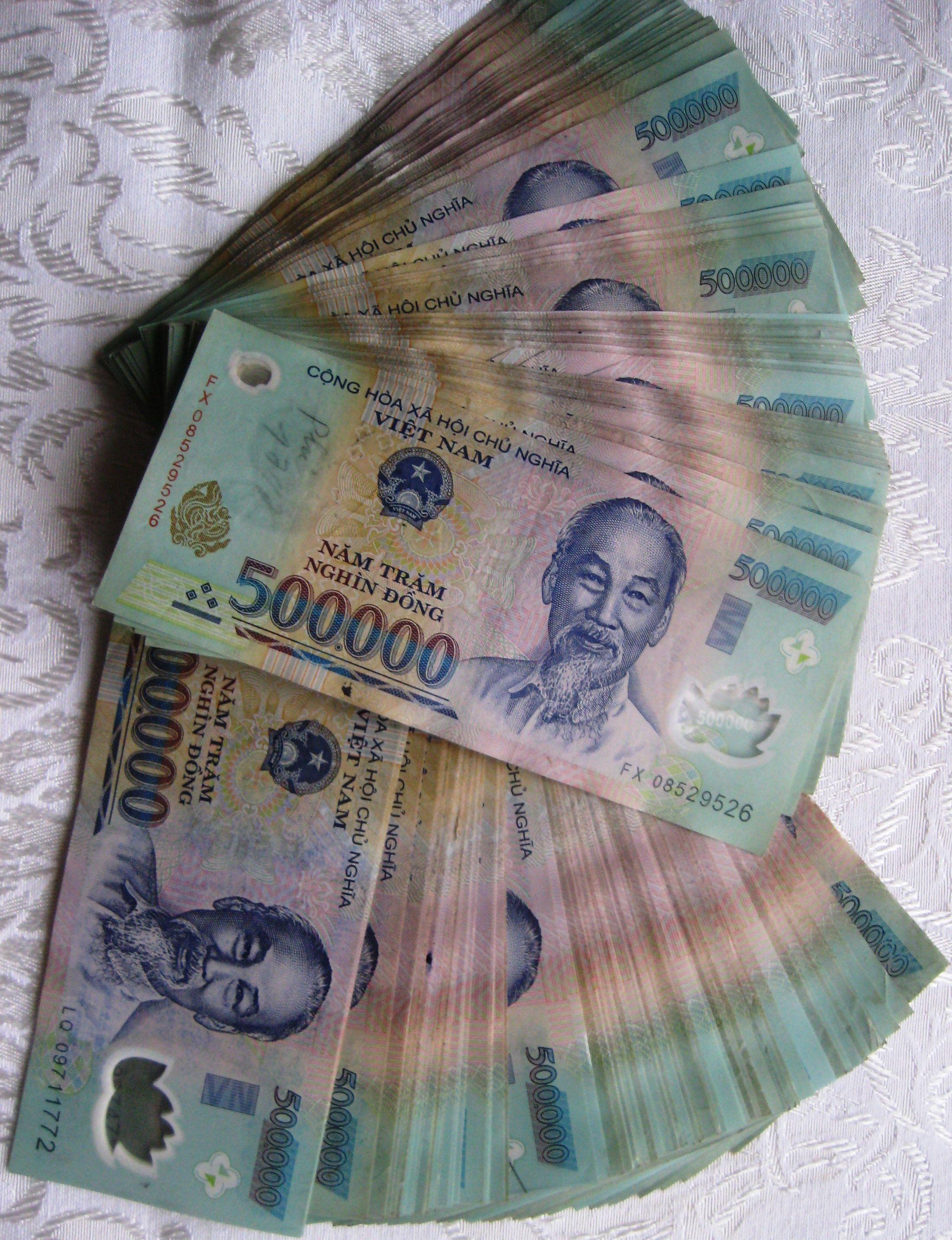 Vietnam Dong Banknotes 500 000 Denomination Circulated Notes Iraqidinarhere Com