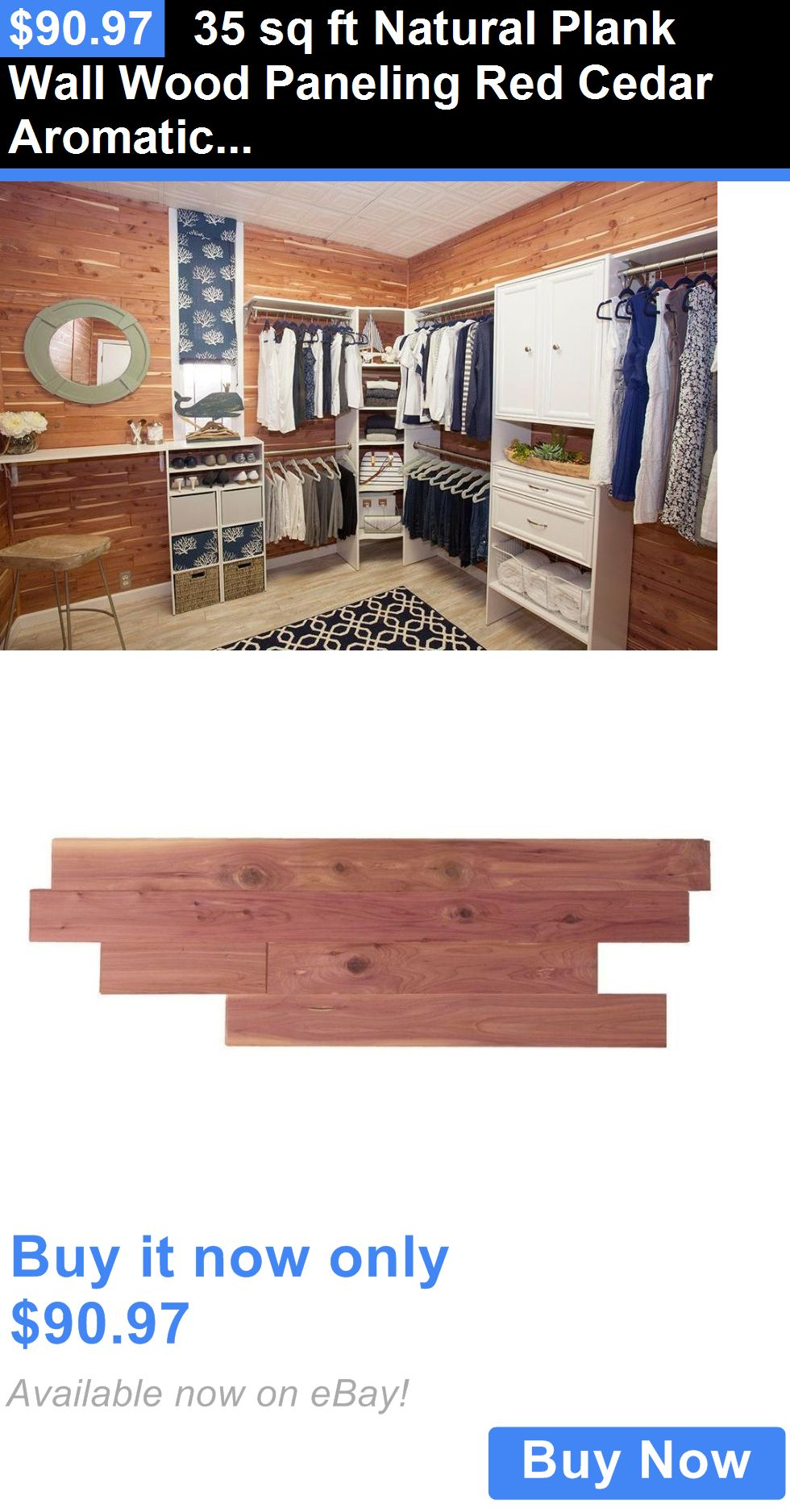 Home Decor 35 Sq Ft Natural Plank Wall Wood Paneling Red Cedar Aromatic Closet Liner Decor Buy It Now Only 90 97 Decor Buy Plank Walls Home Decor