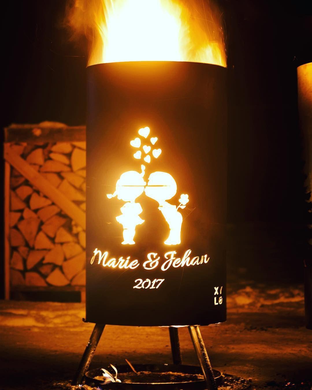 #brasero #xylo #xyloimpact #cadeaudemariage #evenement #wedding #gift #feu #exterieur #personalized #custom #cadeau #love
