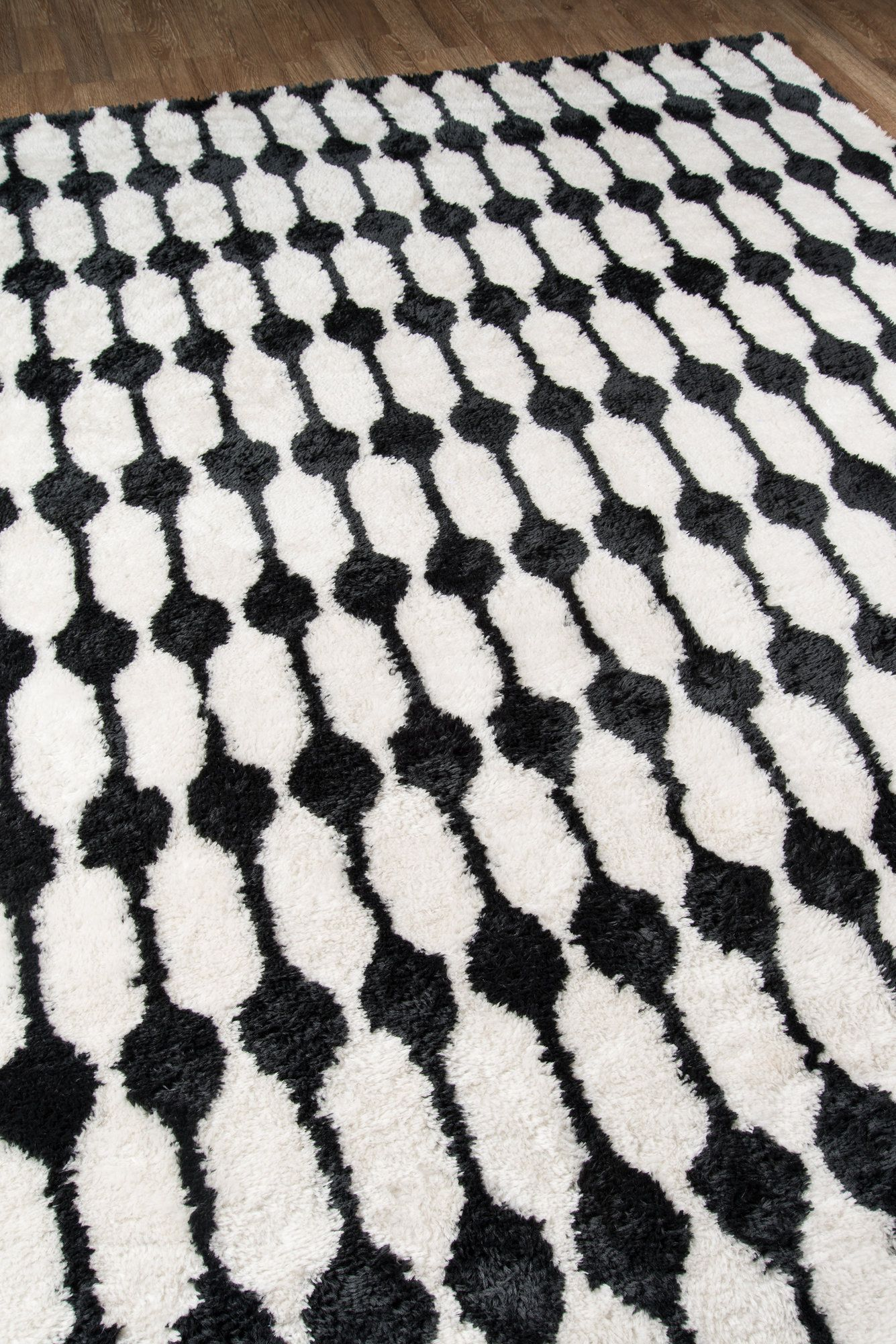 Geometric Handmade Tufted Black White Area Rug In 2019 Black Rug