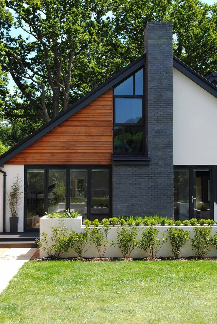 Contemporary Chalet Bungalow Conversion By La Hally: Cool Modern Home With Mixed Siding Materials