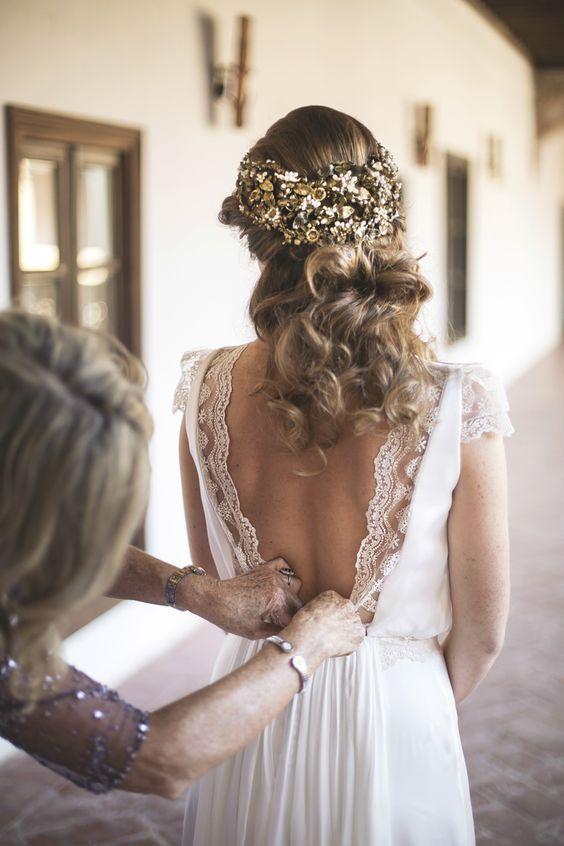 10 vestidos de novia sencillos y con encaje que te enamorarán