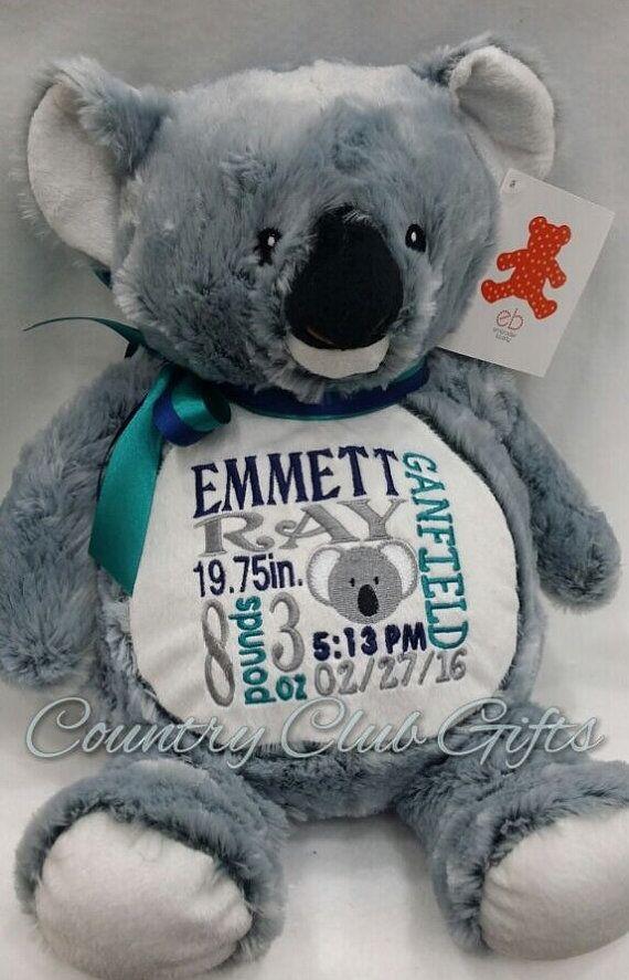 Personalizedbabygiftstuffedplushkoalabycountryclubgifts personalized baby gift stuffed plush koala by countryclubgifts negle Images