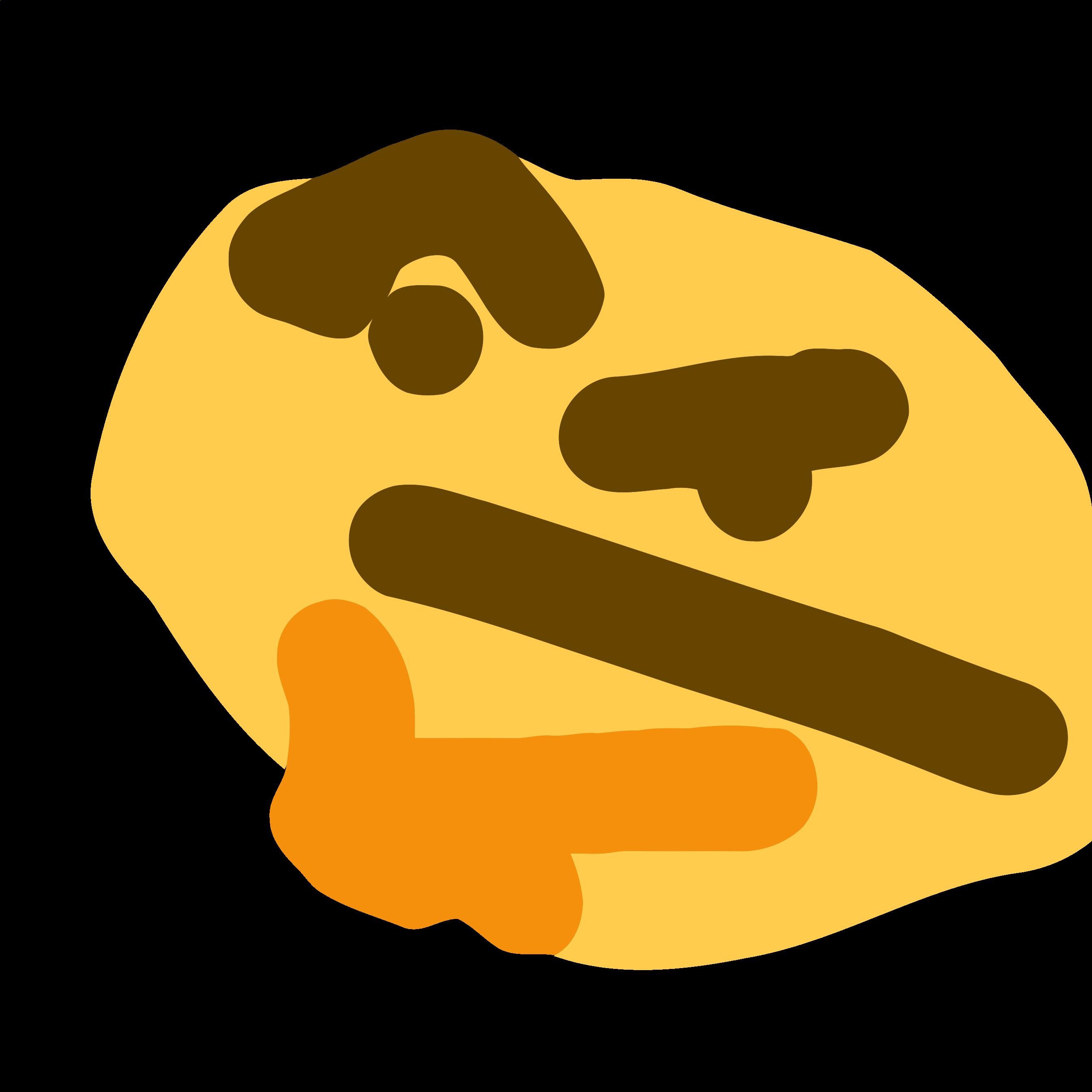HD mspaint | Thinking Face Emoji 🤔 | Emoji meme, Cute ...