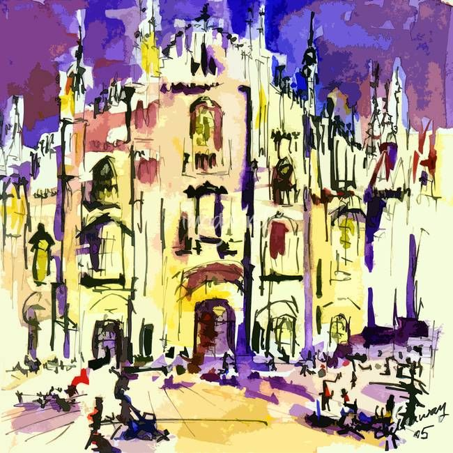 Italy Milano Cathedral Modern Art\