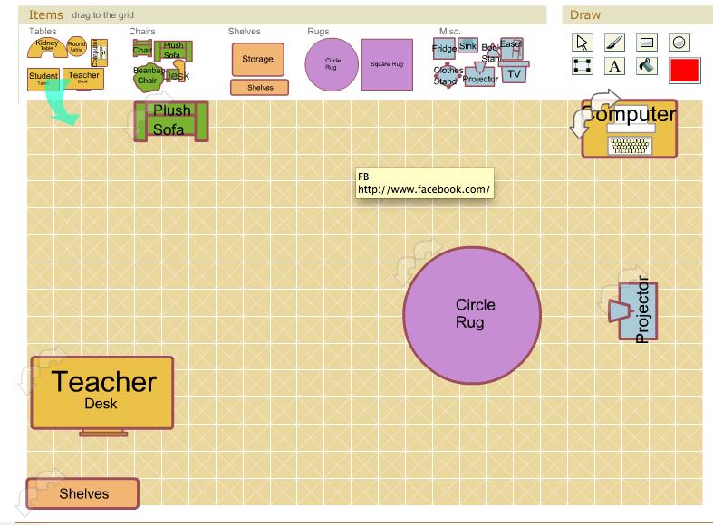 Make a basic classroom floor plan http//classroom