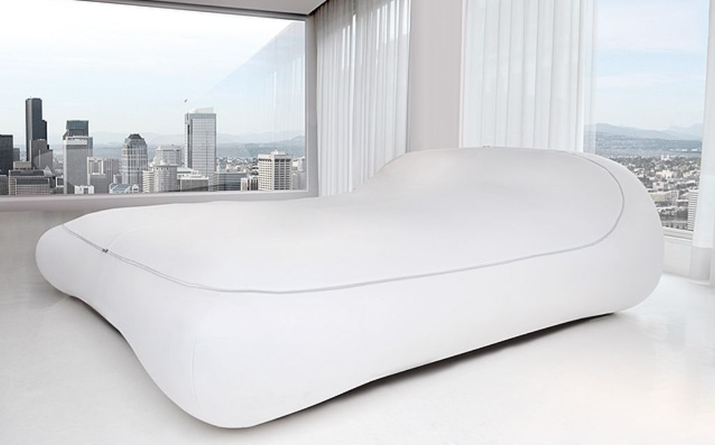 This bed can be zipped up when it is not used and you can also zip it up while you are sleeping inside it. -