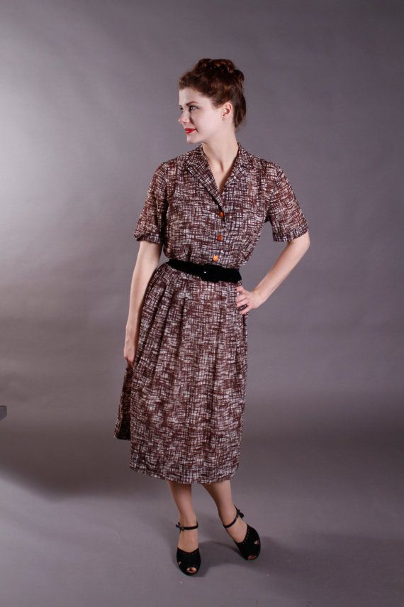 Early 50s L'Aiglon Seersucker Dress
