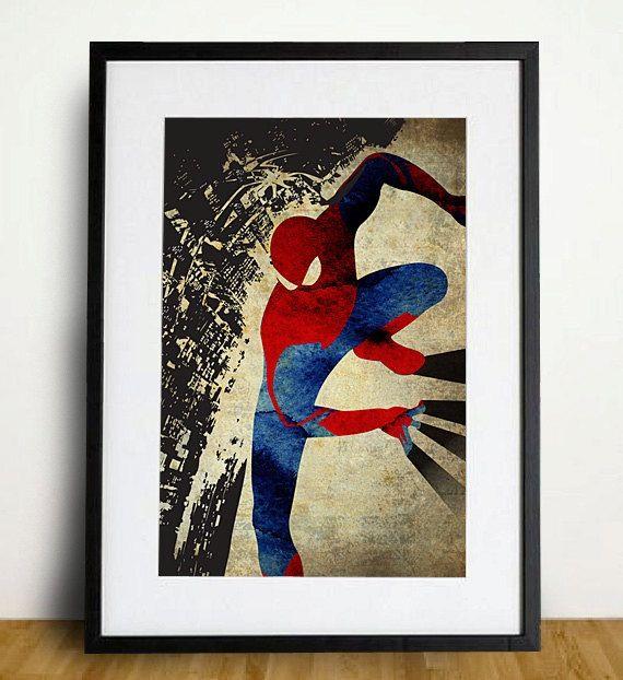 spider man retro pop art poster