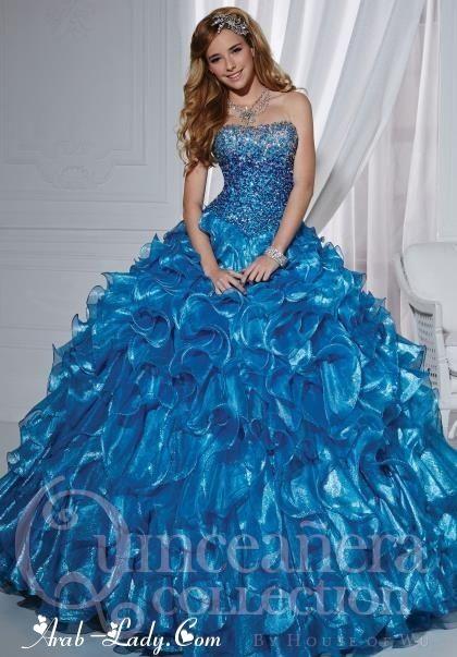 فستان ازرق Quince Dresses Quinceanera Dresses Blue Gowns